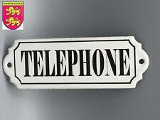 """Plaque Émaillée Signalétique """" TÉLÉPHONE """" 150 x 52 mm"""