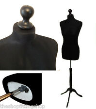 Size 14-16 BLACK Female Dressmakers Dummy MANNEQUIN TAILORS Bust Craft Sewing