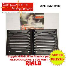 COPPIA GRIGLIE PLASTICA PER ALTOPARLANTI 100 mm - GR. 010 SPIN SOUND by SIPE Srl