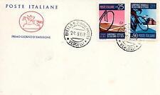 Repubblica Italiana 1968 FDC Cavallino Campionati Mondiali di Ciclismo