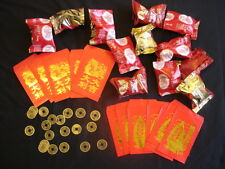 20 FORTUNE COOKIES RED ENVELOPE COIN CHINESE BIRTHDAY WEDDING NEW YEAR PARTY