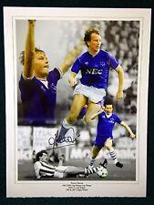 Trevor Steven Signed Everton Large Photograph