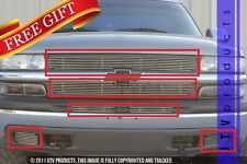 GTG 1999 - 2002 Chevy Silverado 1500 6PC Polished Billet Grille Grill Insert Kit