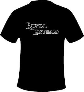 Royal Enfield Retro Text Style  Motorcycle Printed T Shirt in 6 Sizes