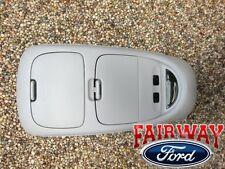 02 thru 04 F250 F350 F450 F550 OEM Ford Parts Light Flint Grey Overhead Console