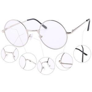 46mm Round Metal Vintage Reading Glasses Frames Spring Hinge Readers +1 +2 +3 +4