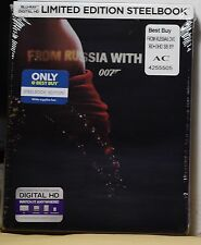NEW FROM RUSSIA WITH LOVE BLU-RAY+HD ULTRAVIOLET STEELBOOK! BEST BUY EXCLUSIVE!