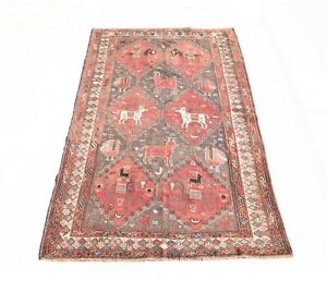 5'0'' x 8'8'' ft. Afghani vegetable dye hand knotted wool oriental rug