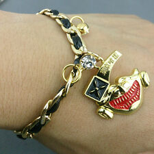 Anime Tokyo Ghoul Ken Kaneki Gold Mask Pendant Metal Bracelet Cosplay