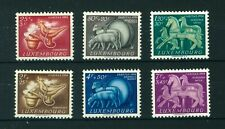 Luxembourg 1954 Folklore full set of stamps. Mint. Sg 580-585