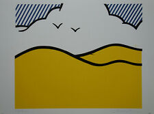 Limited edt Fine POP ART Landscape Silkscreen Roy Lichtenstein signed & stamped