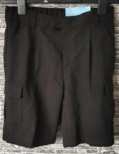 School Uniform Black Cargo Shorts Aged 9 - 10 Pack of 2 X Pairs