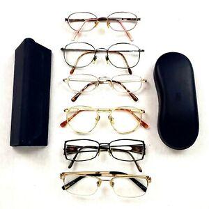 Women's Eyeglasses Lot Of 6 Reading Glasses Assorted Metal Frame Readers 2 Cases