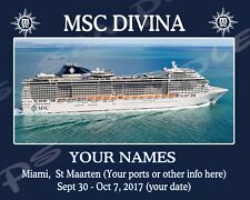 8x10 CUSTOM Cruise Door Magnet - MSC CRUISE LINE - Your Ship