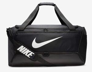 Nike Brasilia Training Duffel Bag Gym Sports Football Kit New Black 61L Medium