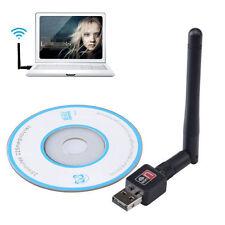 802.11n/g/b 150Mbps Mini USB WiFi Wireless LAN Adapter Antenna Network Card