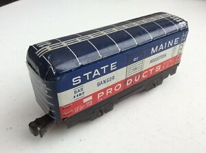 """MARX 6"""" STATE OF MAINE PRODUCTS BANGOR AND AROOSTOOK BOXCAR NO. 4487"""