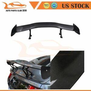 "Universal Fit 57"" GT Wing Adjustable Real Carbon Fiber Wing Spoiler Lightweight"