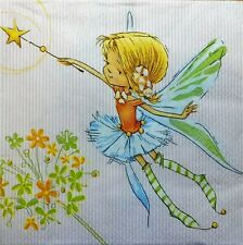 4 X   Paper Napkins Decoupage Crafting Table  elf, girl   206