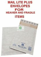 B00 White 120x210mm Mail Lite Plus Bubble Envelope for Heavier Fragile Item