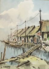 watercolour by A B IBRAHIM (1925-1977)