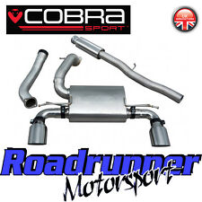 Cobra FOCUS RS MK3 exhaust CAT BACK SYSTÈME Inoxydable Resonated (non rhabditiforme) 3""