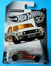 Hot Wheels '67 Ford Mustang Coupe 50th Anniversary cromatura Zamac 1/8-mattel