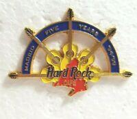 Hard Rock Cafe Pin Madrid 5th Anniversary 94-99  5 Acoustic Guitars