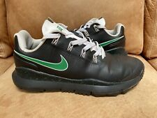 NIKE ID MENS TIGER WOODS TW 14 GOLF SHOES 11.5 BLACK WHITE GREEN SPIKELESS