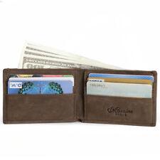 Vendimia Cartera Billetera de Hombre Piel Delgada Tarjetero de Crédito Pequeña