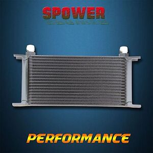 Universal 18 Row AN10 Engine Transmission 248mm Oil Cooler Mocal Style Black