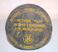 Antique Old Rare KODAK Limited London Film Reel & Tin Canister Great Britain