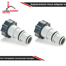 2 Piece Replacement Hose Adapter W/ Collar For Threaded Hose Connection Pumps