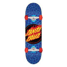 "Santa Cruz Skateboard Complete Flame Dot Blue 7.5"" x 28.25"" Assembled"