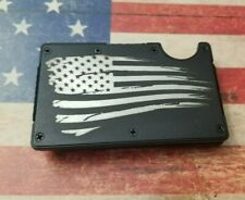 Distressed American flagRFID tactical wallet
