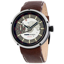 Momo Design Evo Meccanico Brown Leather Automatic Mens Watch 1010BS-42