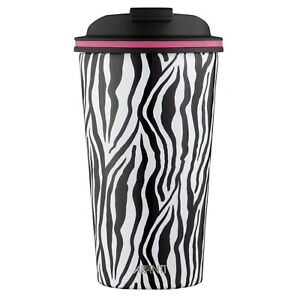 New AVANTI Go Cup Double Wall Stainless Steel Insulated Cup 410ml Zebra