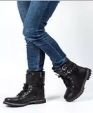 Timberland Earthkeepers 8-Inch Double Strap Waterproof Boots, Black, 6M, $180