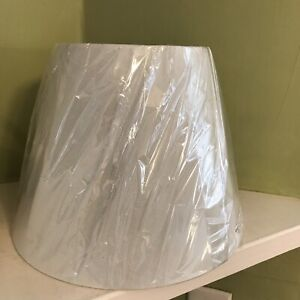 """Small  Off-White Lampshade for Harp H. 8"""" D. top 6"""" D bottom 10"""" New"""