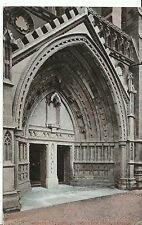 Bristol Postcard - Bristol Cathedral - The West Door   A4397