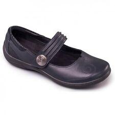 Padders POEM Ladies Womens Leather Extra Wide Plus + EE/EEE Mary Jane Shoes Navy