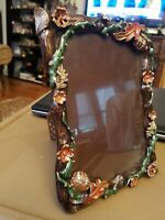 JAY STRONGWATER Green and multicolor Embellished Enamel Picture Frame