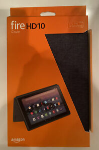 Amazon Fire HD 10 Tablet Case 7th Generation - Charcoal Black