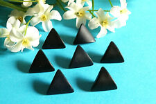 "1015B/Stunning Buttons "" Triangle "" Black Lot 7 Buttons Period 1960/70"