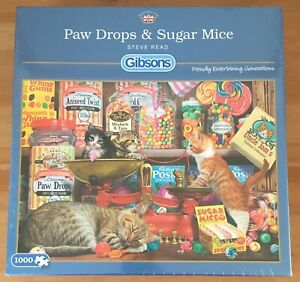 Gibsons Steve Read Paw Drops & Sugar Mice 1000 Piece Jigsaw Puzzle - New