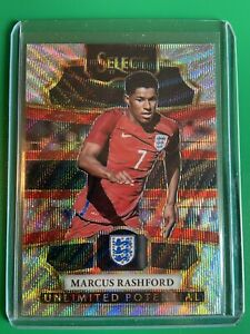 2017-18 Select Soccer Marcus Rashford Unlimited Potential Silver Wave Prizm