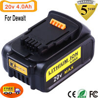 20V 4000mAh For DeWalt  Max XR Lithium Ion Battery DCB204 DCB205 DCB200 DCB201