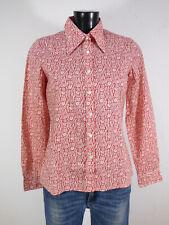 CACHAREL Damen Bluse Gr 38 - DE / Rot Beige mit Muster Neuwertig  ( Q 8357 )