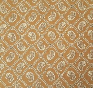 New Traditions BTY P&B Textiles Civil War Paisley Damask Ivory Light Brown