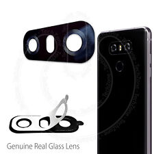 LG G6 H870 BLACK REAL GLASS Back Rear Camera Lens Cover With Adhesive Sticker